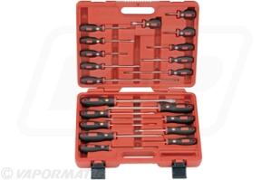 20 piece combination screw driver set