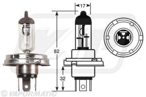 Accessory tractor part VLC0012 Halogen bulb