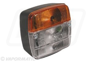 Accessory tractor part VLC6012 Front  amber/white lamp