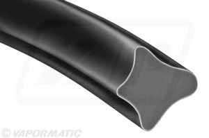 Accessory tractor part VLD1215 Black PVC glazing rubber