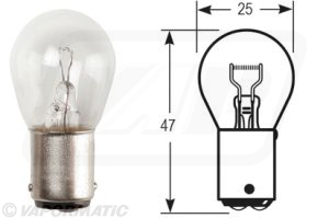 Accessory tractor part VLX0346 Stop/Flash/Rev/Rearfog bulb