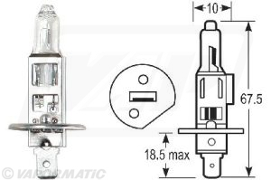 Accessory tractor part VLX0448 Halogen bulb