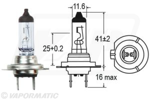 Accessory tractor part VLX0474 Halogen bulb