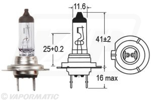Accessory tractor part VLX0477 Halogen bulb
