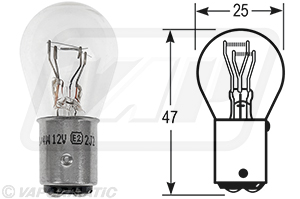 Accessory tractor part VLX0566 Fog/Tail bulb