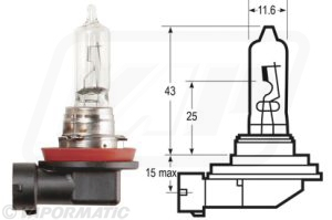 Accessory tractor part VLX0709 Halogen bulb